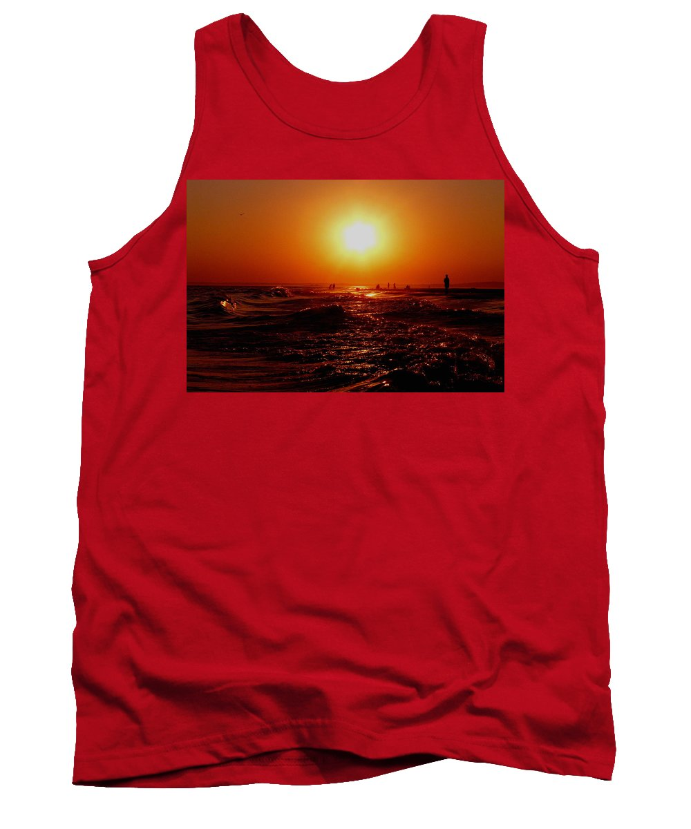 Beach Tank Top featuring the photograph Extreme Blazing Sun by Kendall Eutemey
