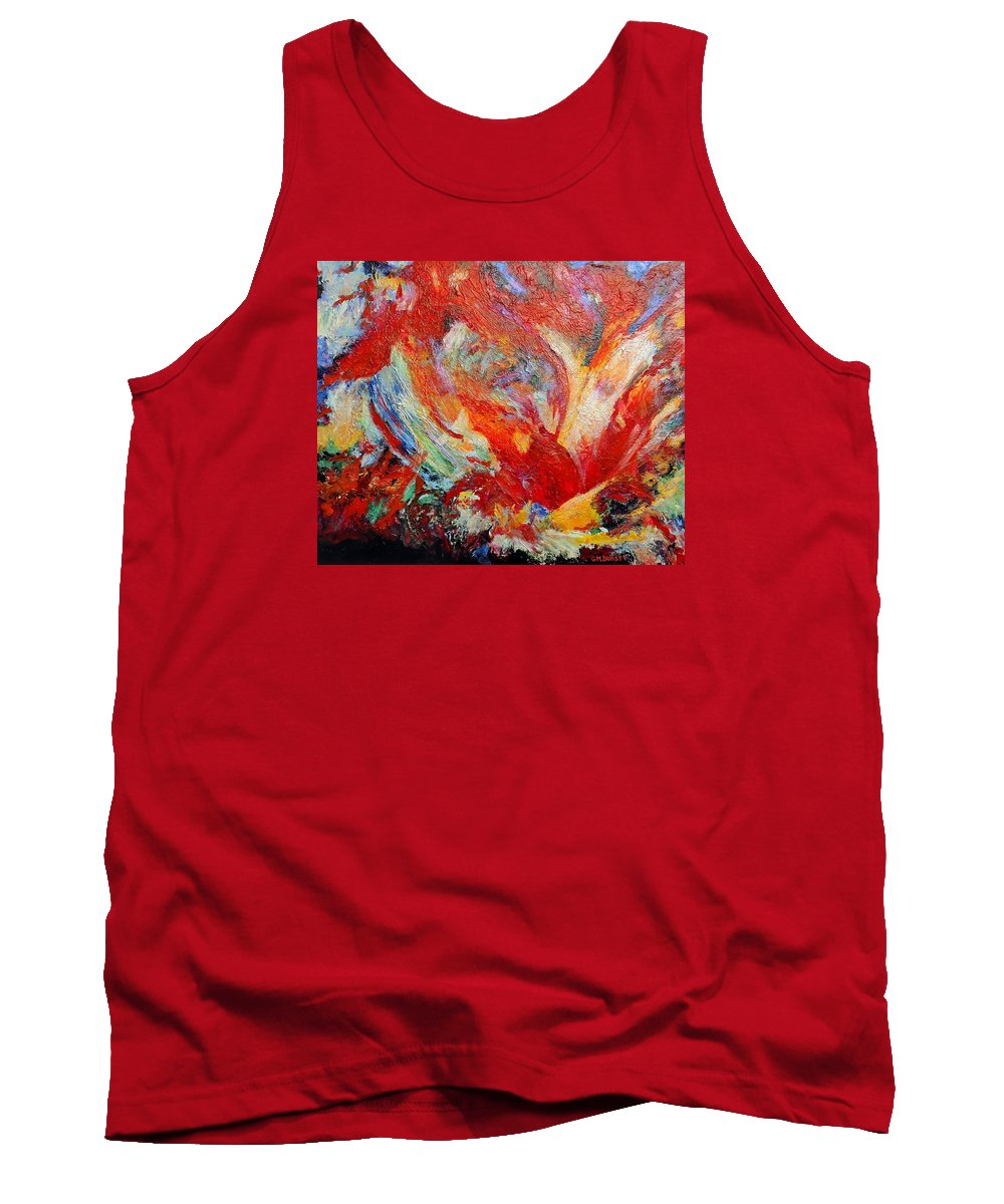Abstract Tank Top featuring the painting Exuberance by Michael Durst
