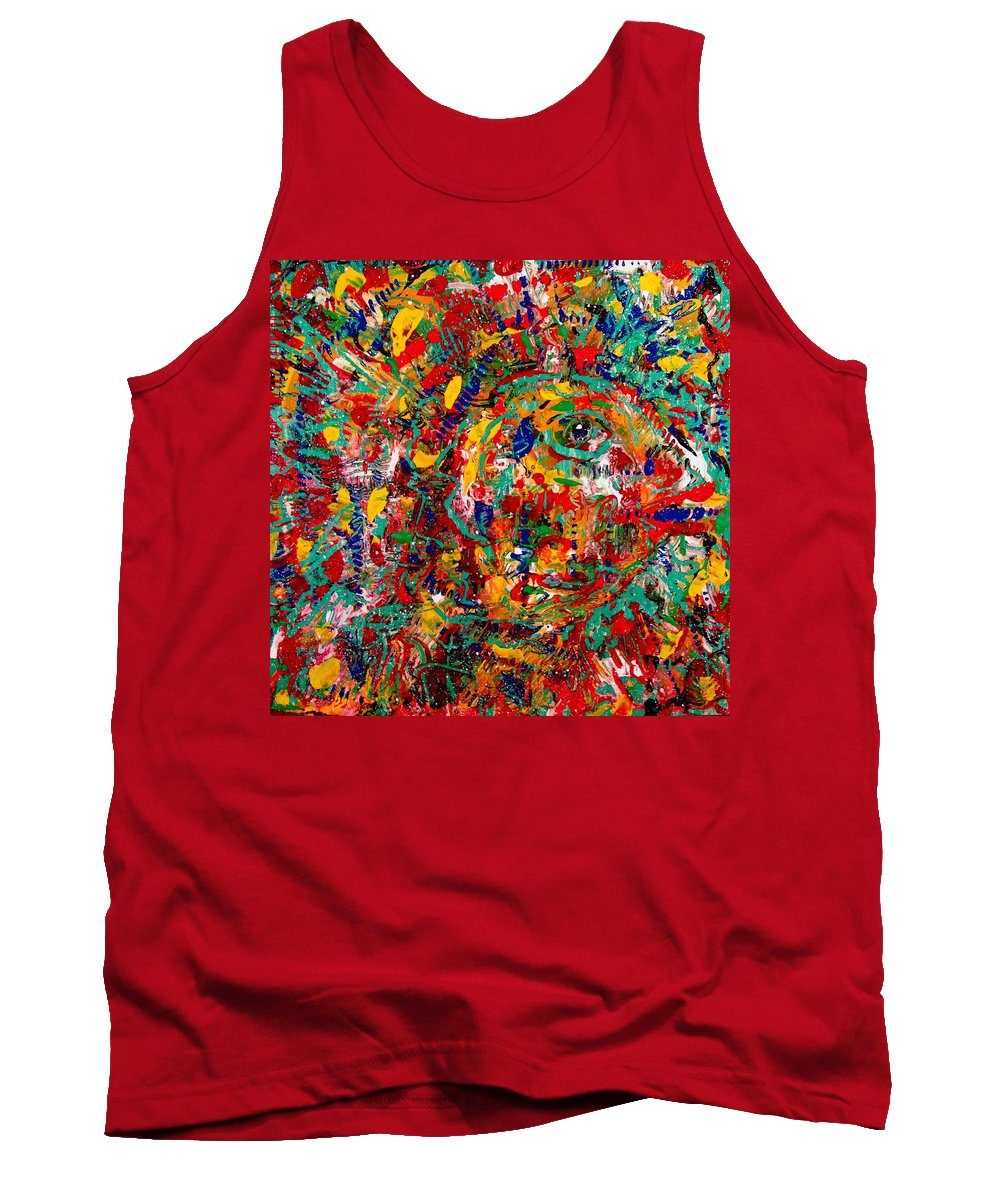 Abstract Tank Top featuring the painting Eye Of The Beholder by Natalie Holland