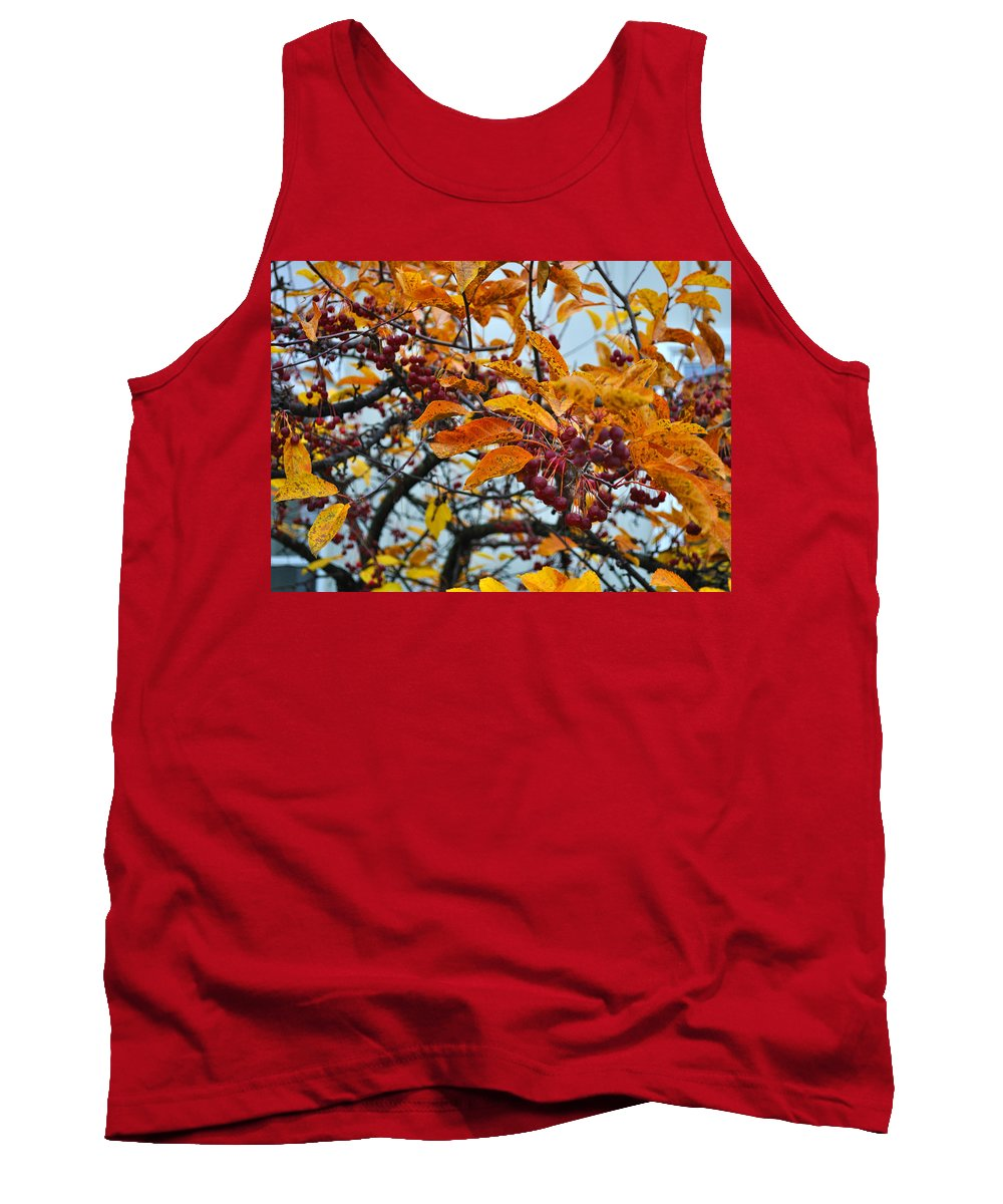 Berries Tank Top featuring the photograph Fall Berries by Tim Nyberg