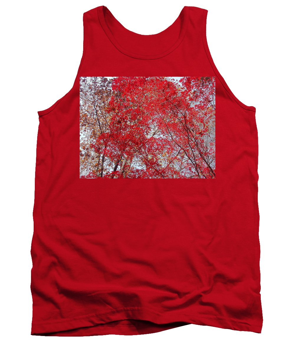 Leaves Tank Top featuring the photograph Fall Foilage by Deborah Crew-Johnson