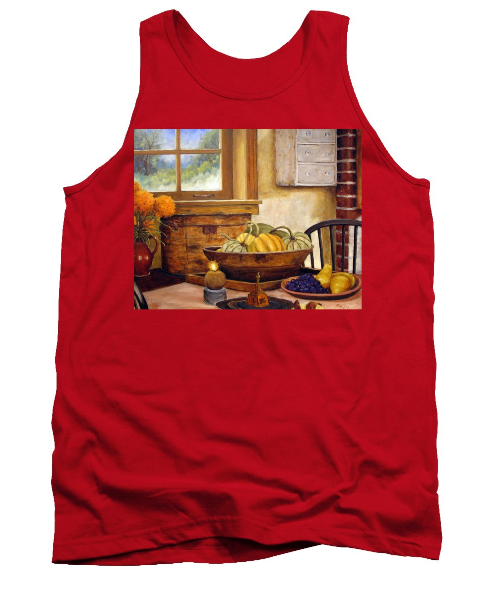Fall Tank Top featuring the painting Fall Harvest by Richard T Pranke