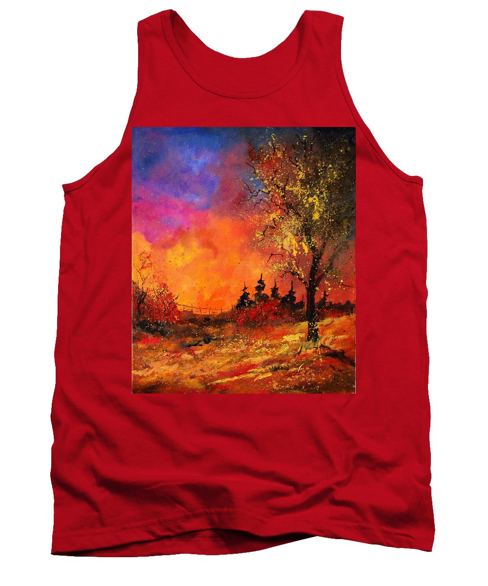 River Tank Top featuring the painting Fall by Pol Ledent