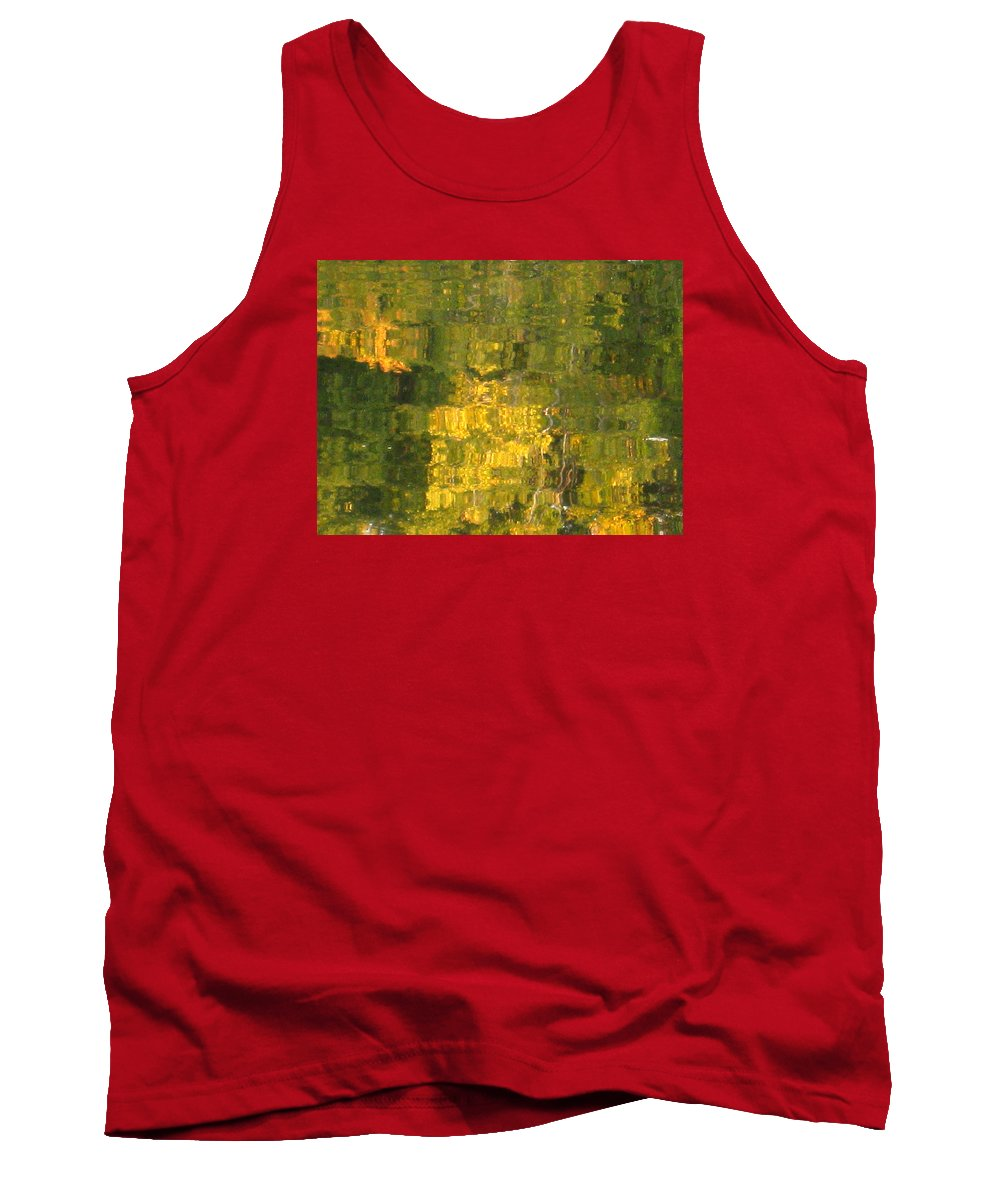 Water Tank Top featuring the photograph Fall Reflections 2 On Jamaica Pond by Giora Hadar