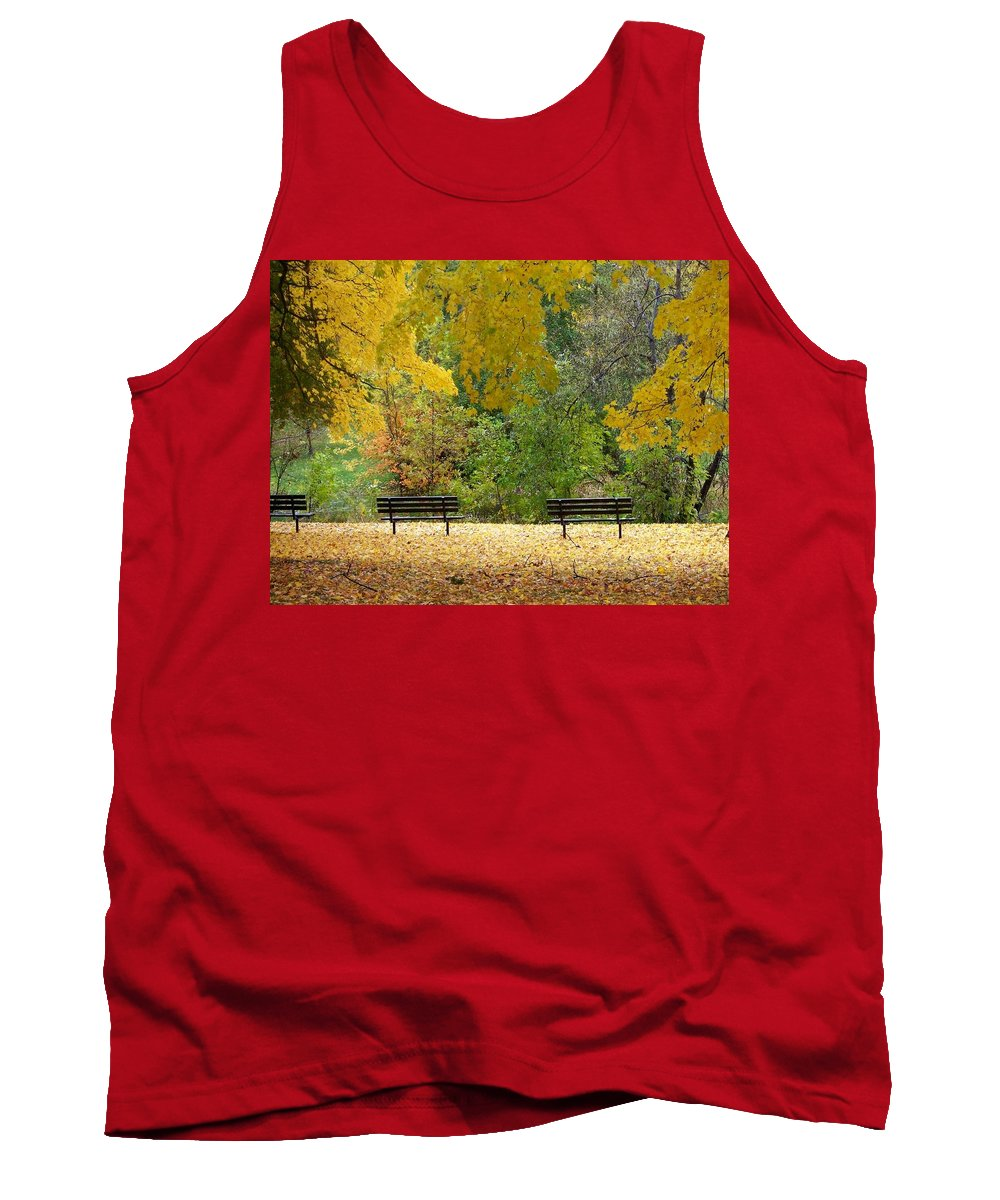 Fall Tank Top featuring the photograph Fall Series 12 by Anita Burgermeister