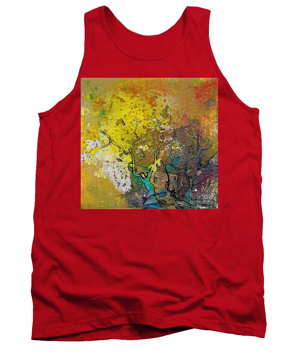 Miki Tank Top featuring the painting Fantaspray 13 1 by Miki De Goodaboom