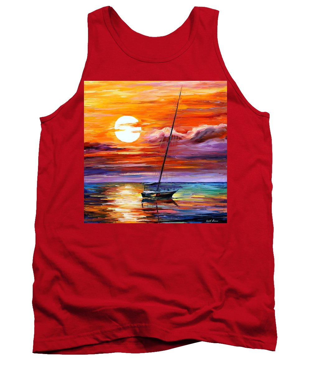 Afremov Tank Top featuring the painting Far And Away by Leonid Afremov