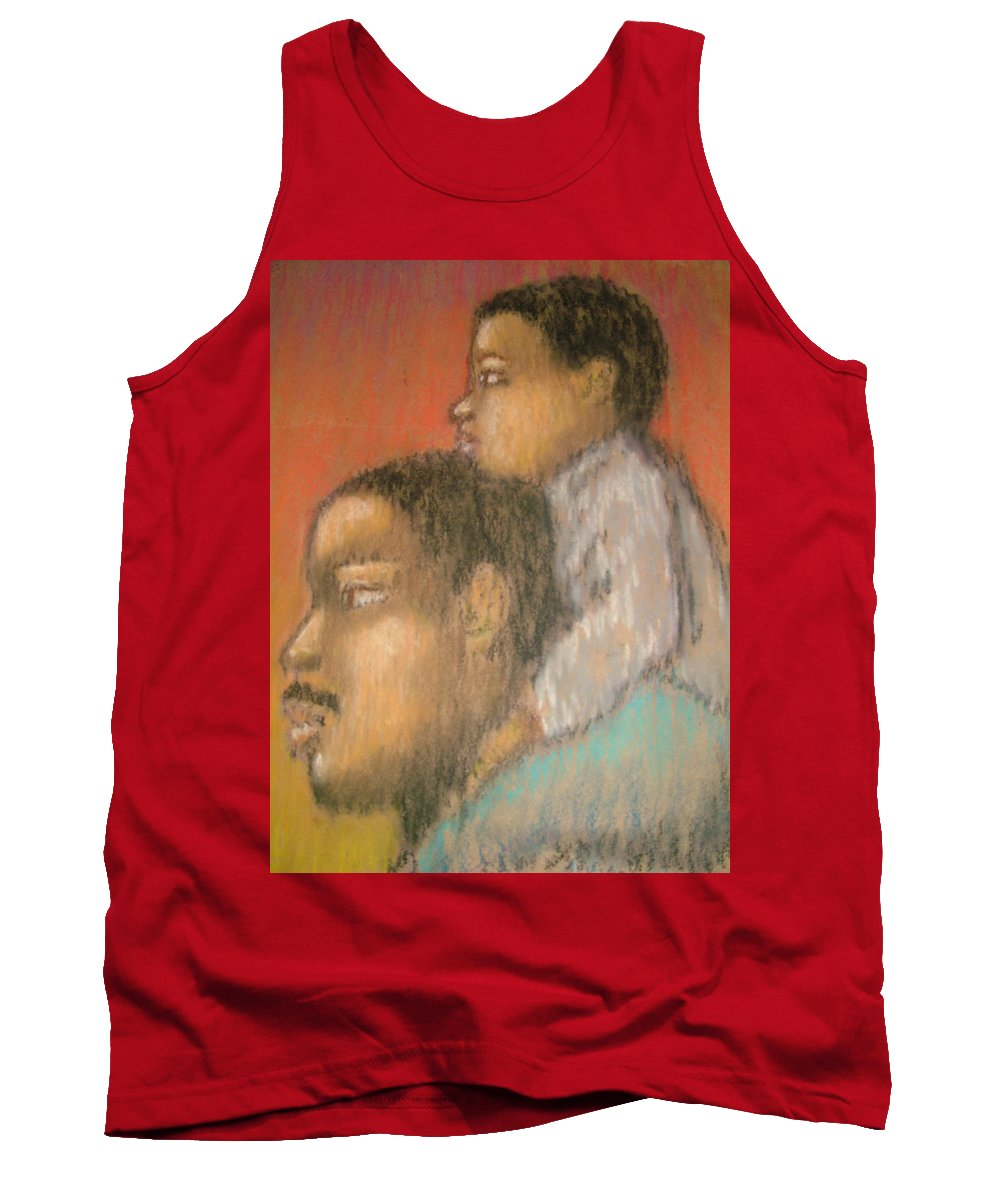 Tank Top featuring the drawing Father And Son by Jan Gilmore