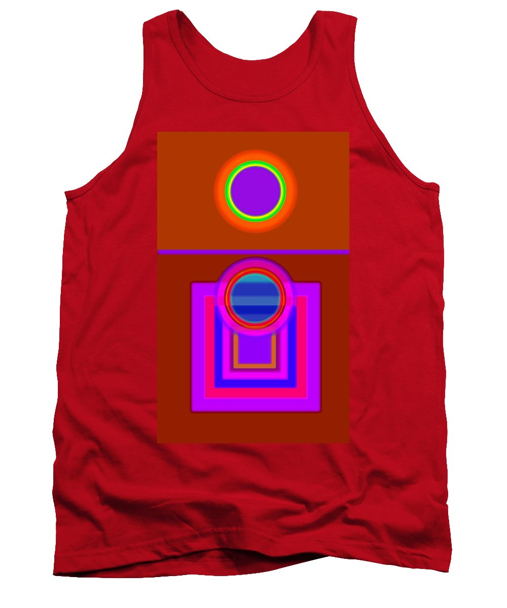 Classical Tank Top featuring the digital art Fever Pitch by Charles Stuart