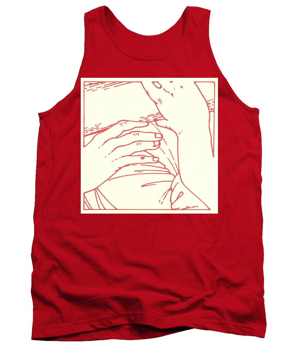 Tank Top featuring the drawing Fifth Station- Simon Of Cyrene Helps Jesus To Carry His Cross by William Hart McNichols