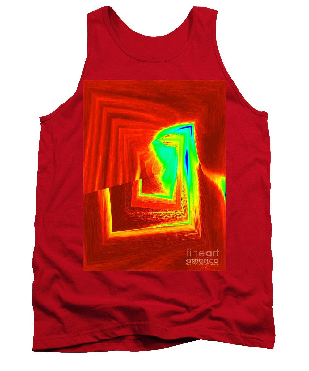 Abstract Tank Top featuring the digital art Fire And Ice by Donna Bentley