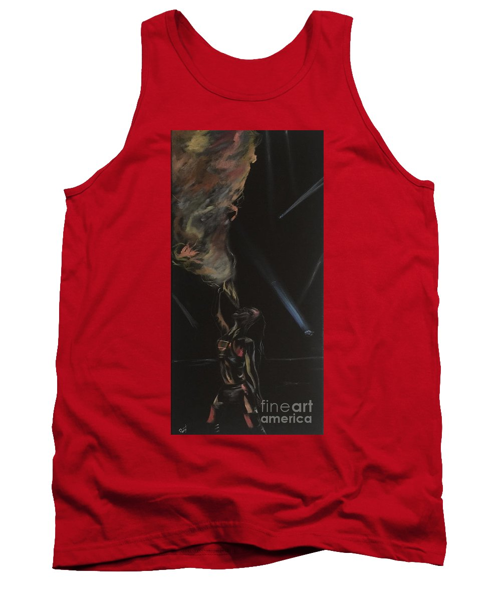 Oil Tank Top featuring the painting Fire Breather by Stephon Wright