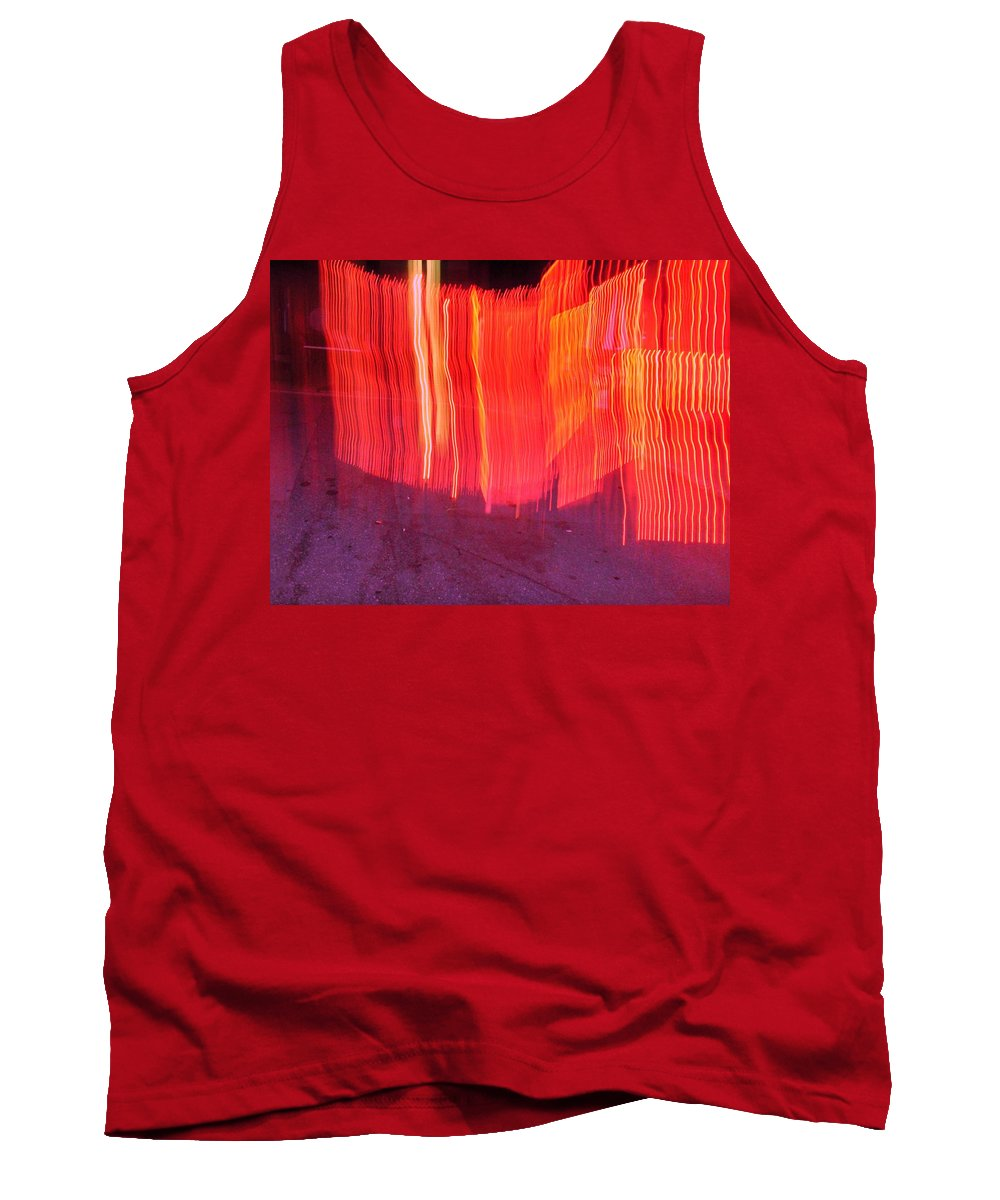 Photograph Tank Top featuring the photograph Fire Fence by Thomas Valentine