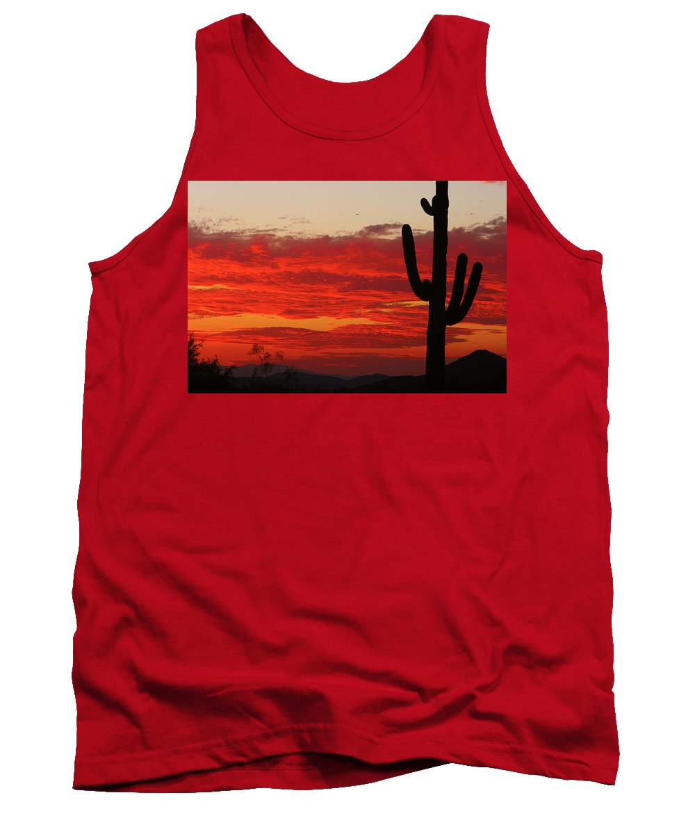 Sunset Tank Top featuring the photograph Fire In The Sky by James BO Insogna
