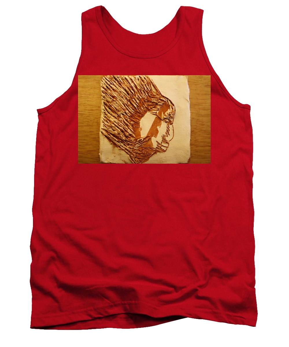 Jesus Tank Top featuring the ceramic art Fires Eyes - Tile by Gloria Ssali