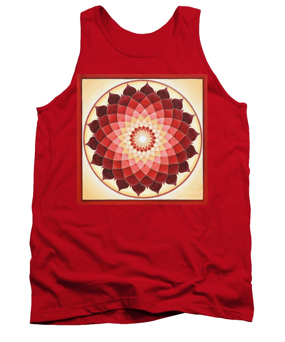 Mandala Tank Top featuring the painting Flower Of Life by Charlotte Backman