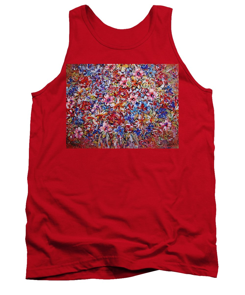 Flowers Tank Top featuring the painting Flower Passion by Natalie Holland