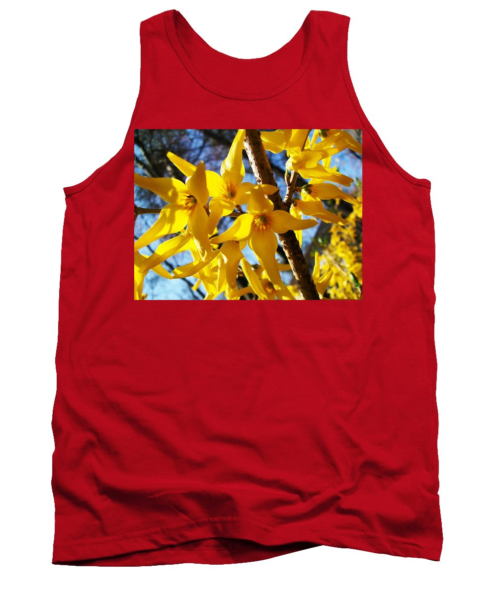 Fareeha Khawaja's Photography Tank Top featuring the pyrography Flowers Of The Sky by Fareeha Khawaja