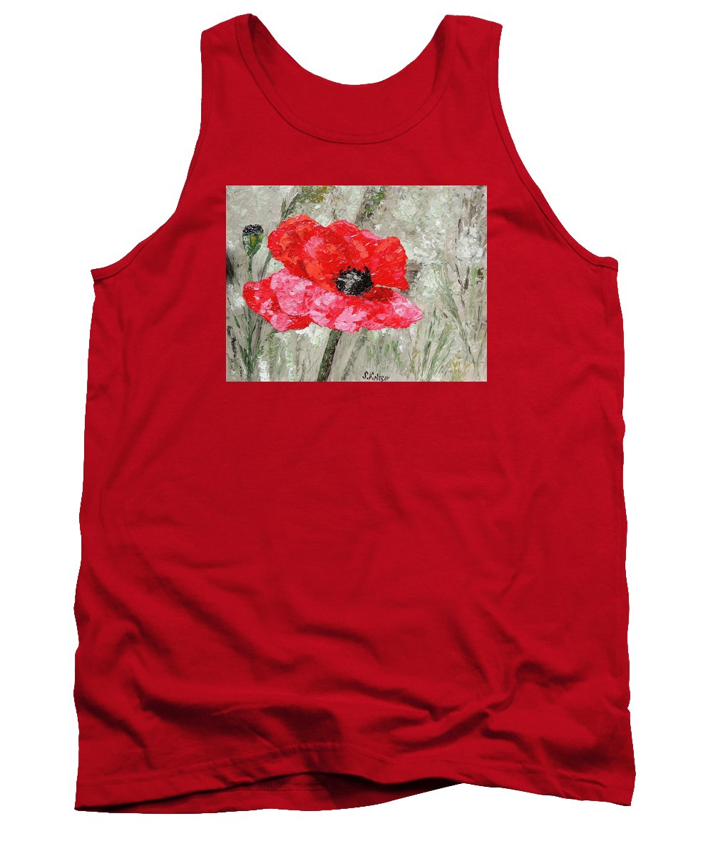 Landscape Tank Top featuring the painting Foggy Morning On Spanish by Sergei Kolesov