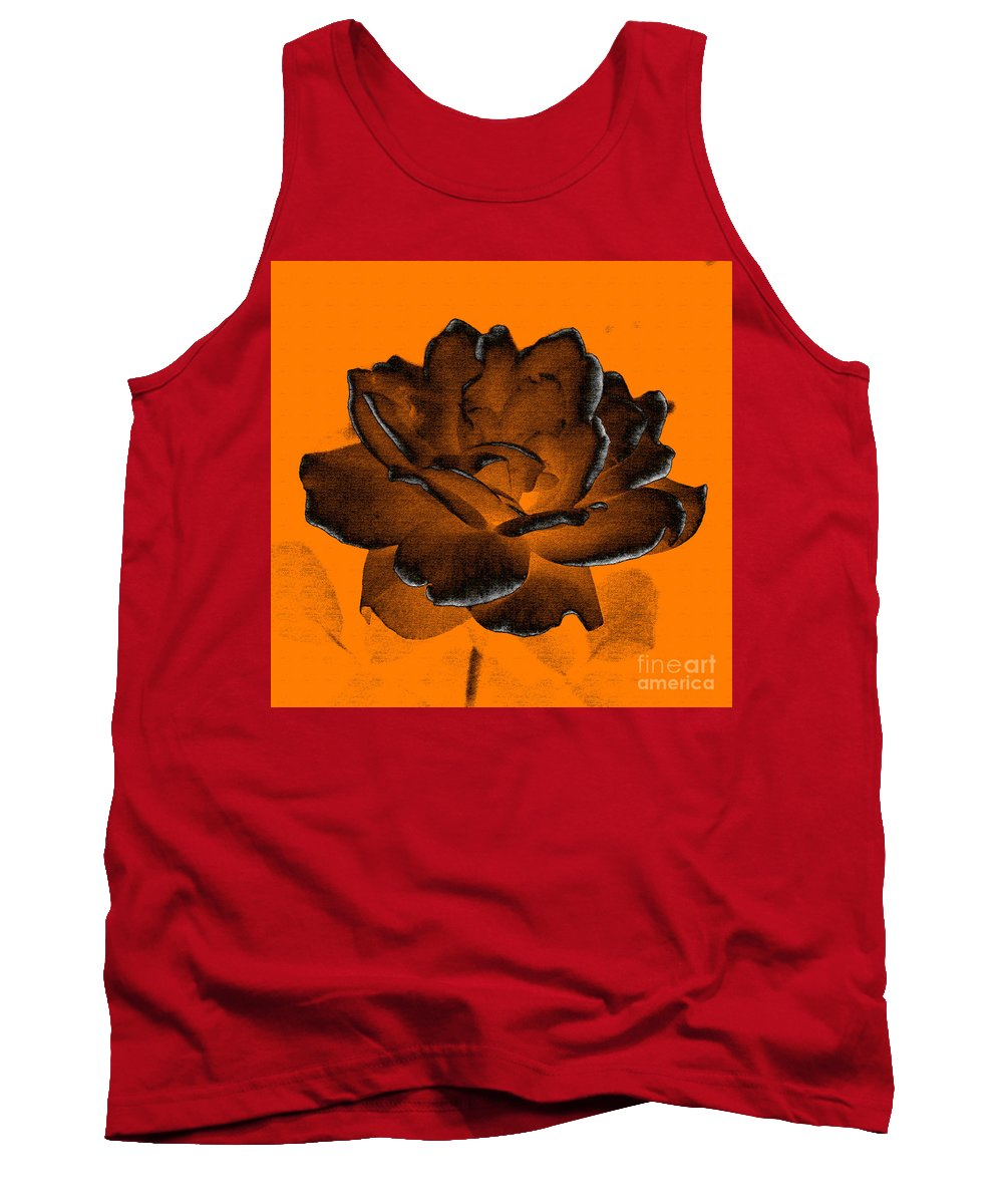 Rose Tank Top featuring the photograph Forced Into Shape by Amanda Barcon