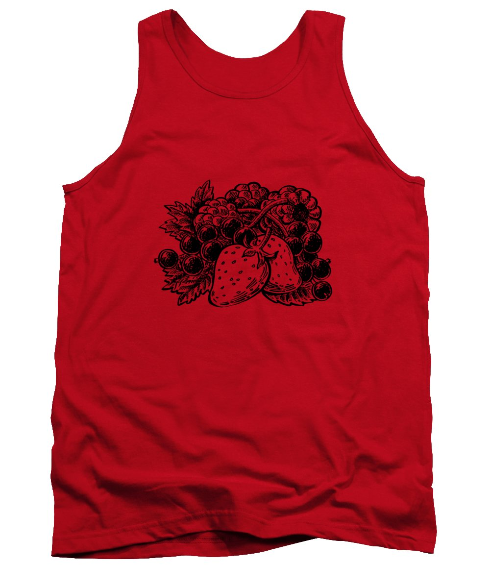 Forest Berries Tank Top featuring the painting Forest Berries by Irina Sztukowski