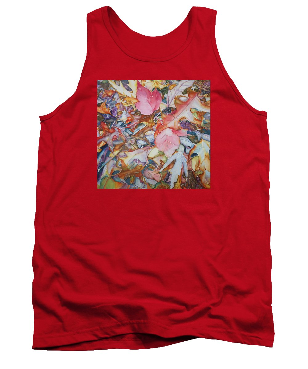 Leaves Tank Top featuring the painting Forest Floor Tapestry by Christiane Kingsley