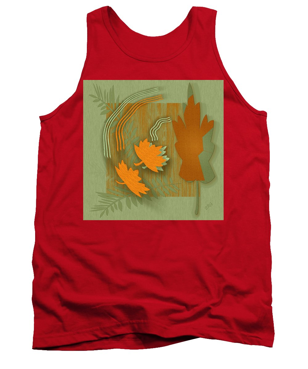 Fall Leaves Tank Top featuring the digital art Forever Leaves by Ben and Raisa Gertsberg