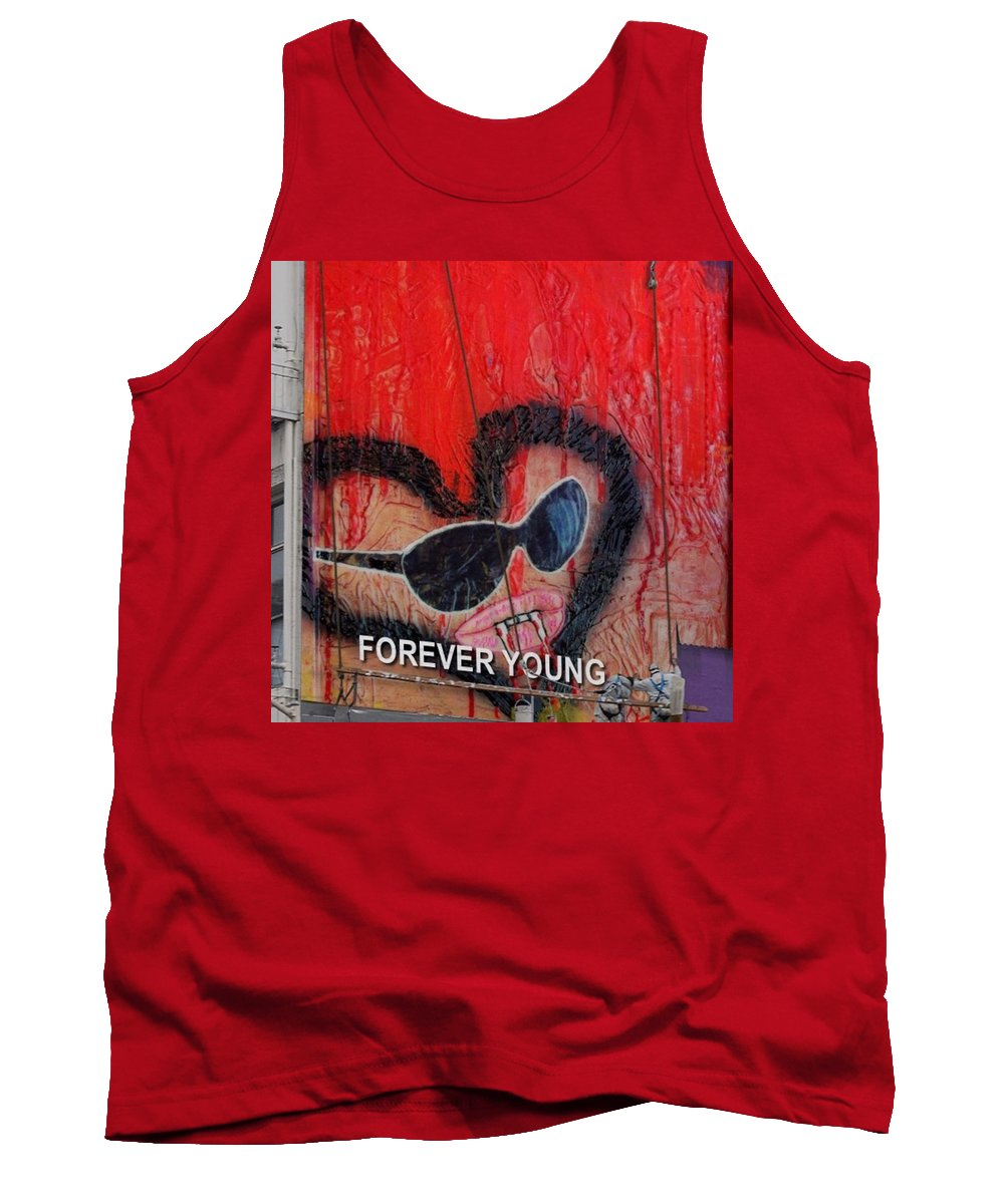 Art #artist #paint #painting #drawing #drawings #markers #paintings #watercolor #watercolour #ink #creative #sketch #sketchaday #pencil #arte #dibujo #myart #artwork #illustration #graphicdesign #graphic #color #colour Ers Tank Top featuring the painting Forever Young At Heart by Lisa Piper