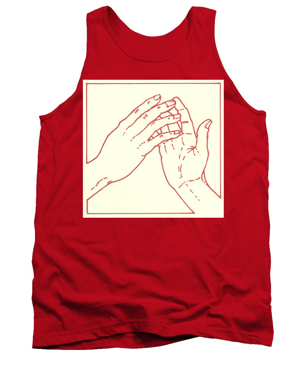 Tank Top featuring the drawing Fourth Station- Jesus Meets His Mother by William Hart McNichols