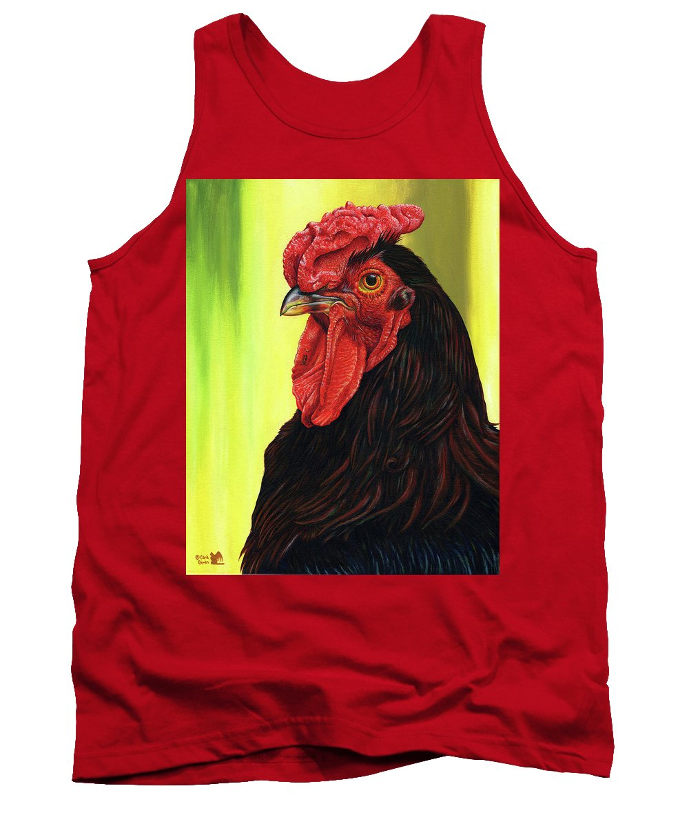 Rhode Tank Top featuring the painting Fowl Emperor by Cara Bevan