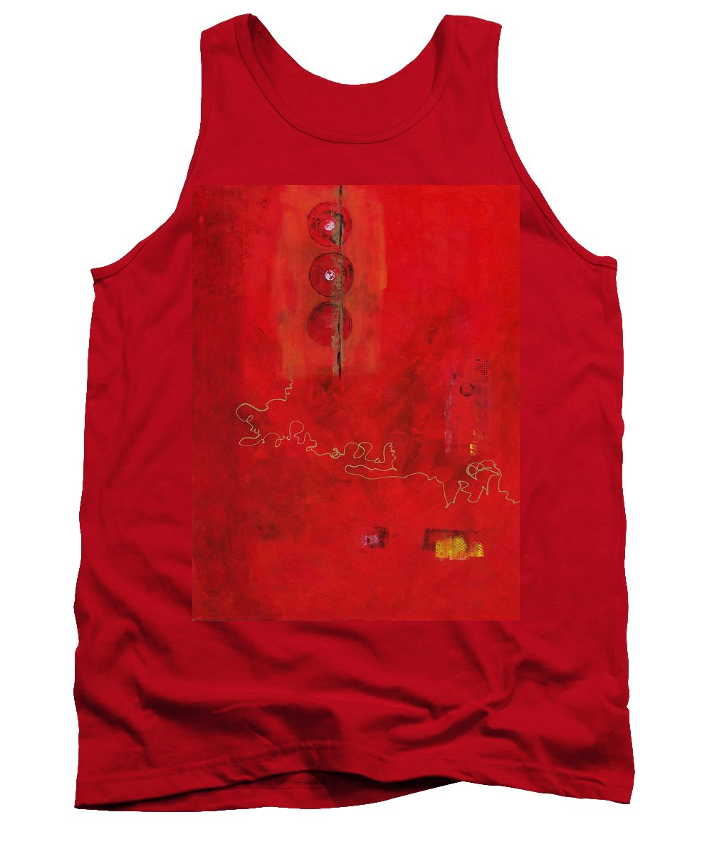 Abstract Expressionism Tank Top featuring the painting Free Spirit 007 by Donna Frost