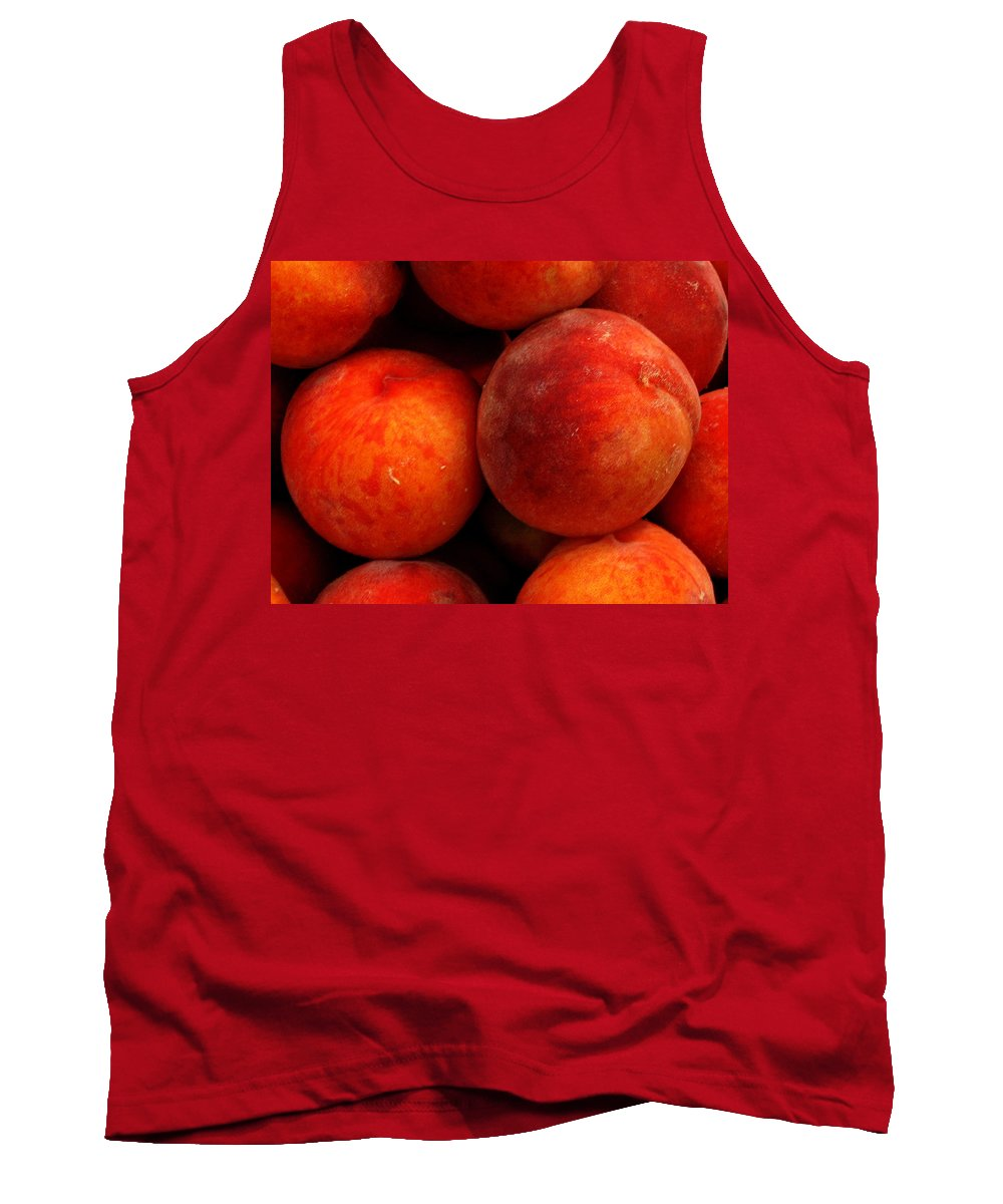 Fruit Tank Top featuring the photograph Fresh Fuzzy Peaches by Ian MacDonald