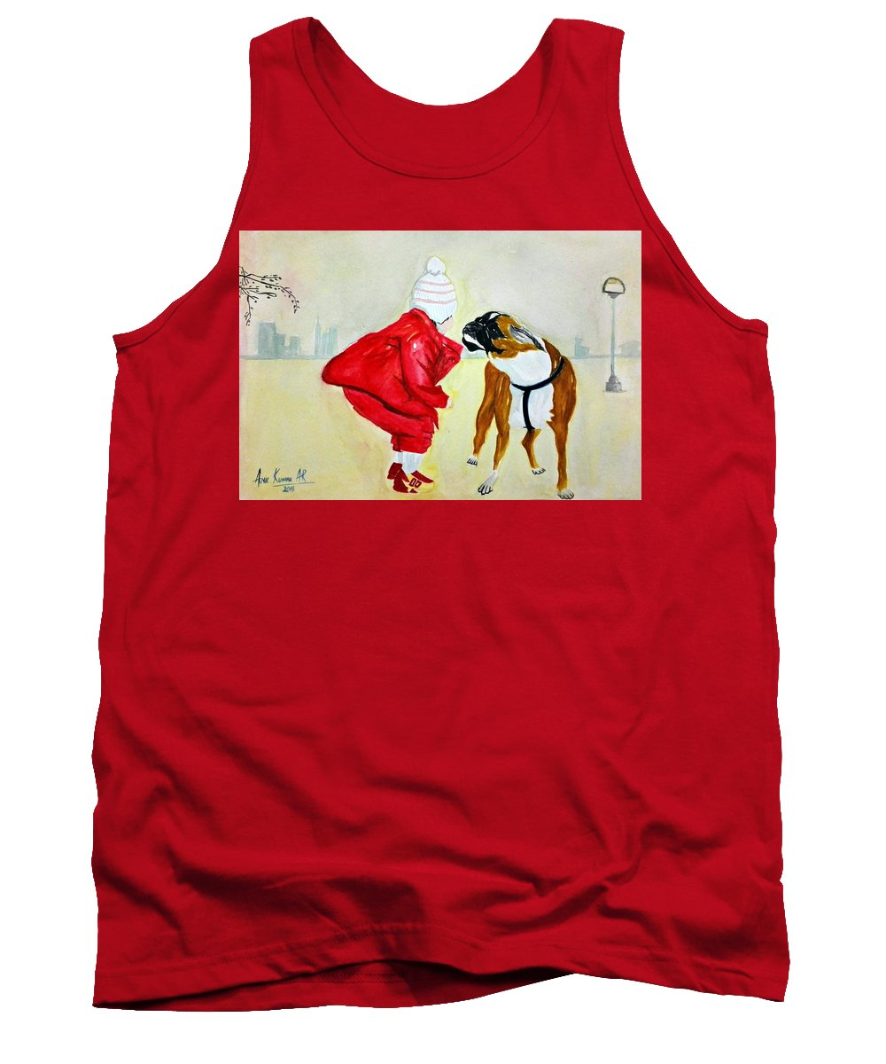 Kid Tank Top featuring the painting Friendship by Anil Kumar Ar