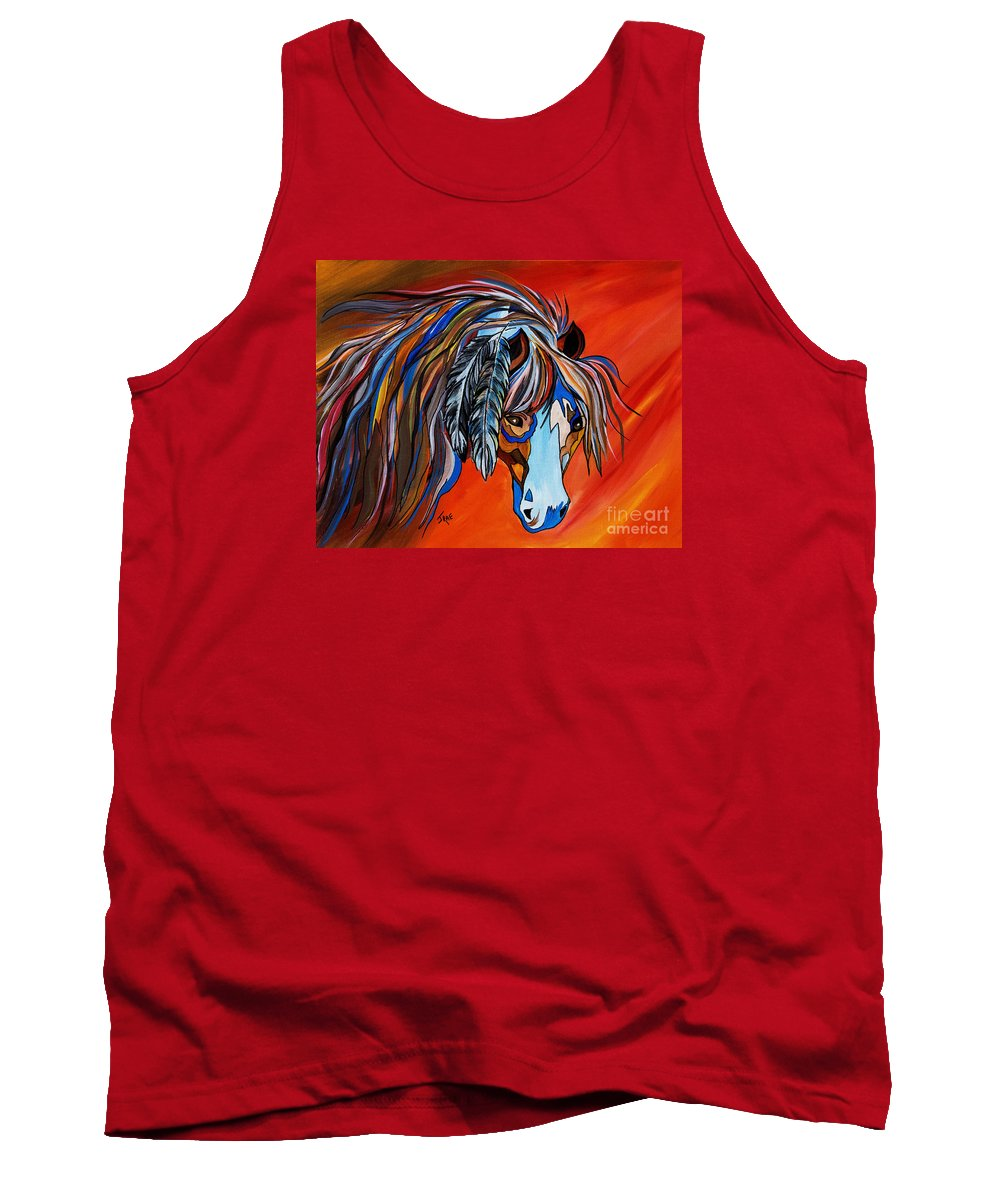 Horse Tank Top featuring the painting Frisco War Horse by Janice Pariza