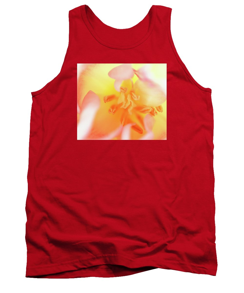 Internal Beauty Of A Tulip Tank Top featuring the photograph From The Heart by Bill Morgenstern