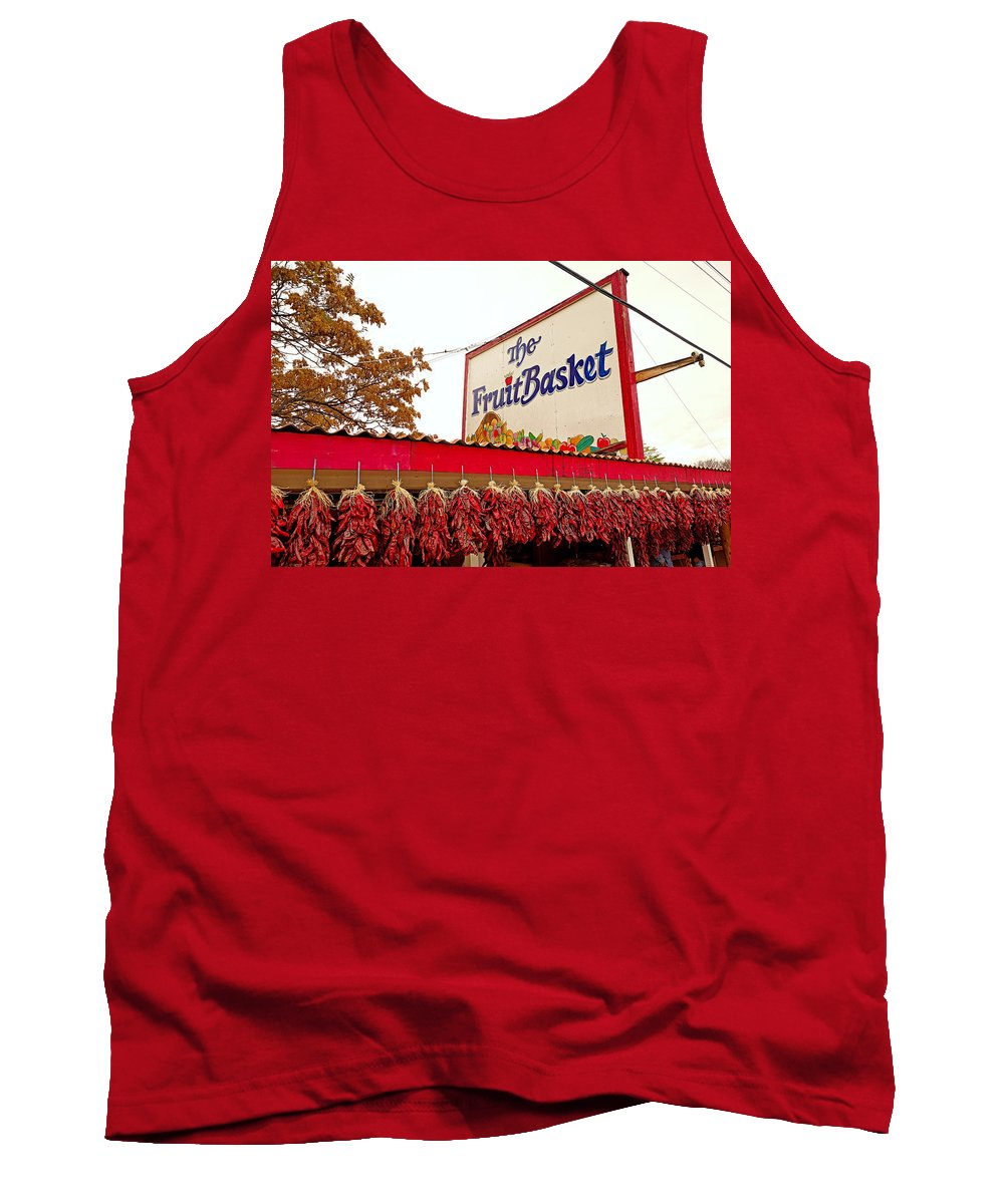 Fruit Basket Tank Top featuring the photograph Fruit Basket Stand by Robert Meyers-Lussier