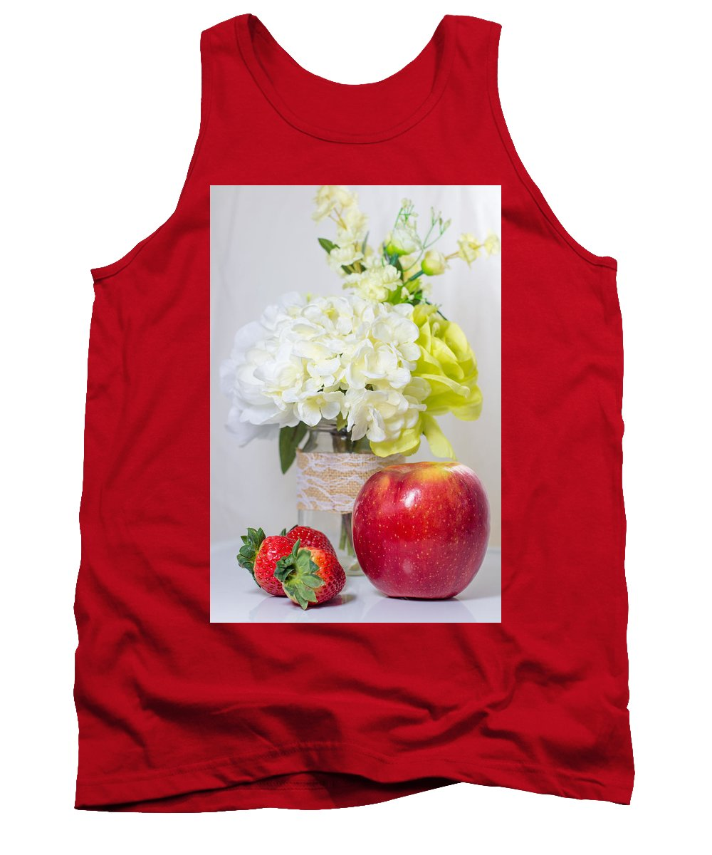 Fruit Tank Top featuring the photograph Fruits And Flowers by Hyuntae Kim