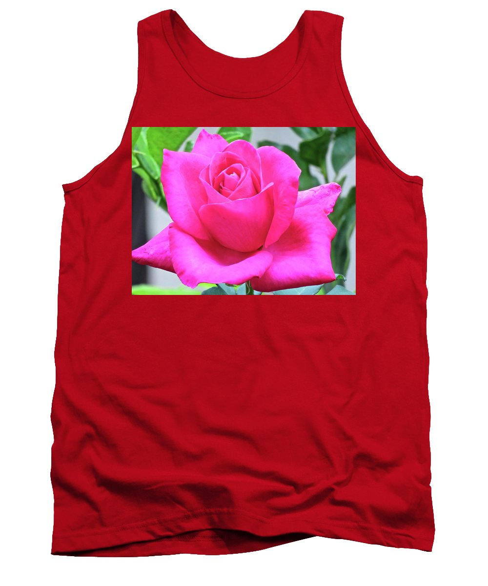 Nature Tank Top featuring the photograph Fuchsia Rose by Joan Laine