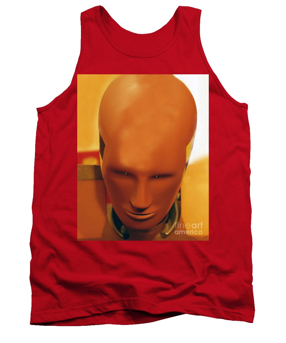 Future Tank Top featuring the photograph Future Man by David Lee Thompson