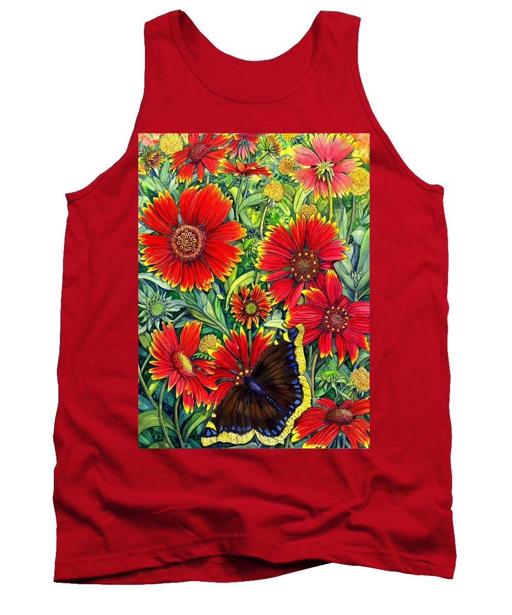 Butterfly Tank Top featuring the painting Gaillardia by Catherine G McElroy