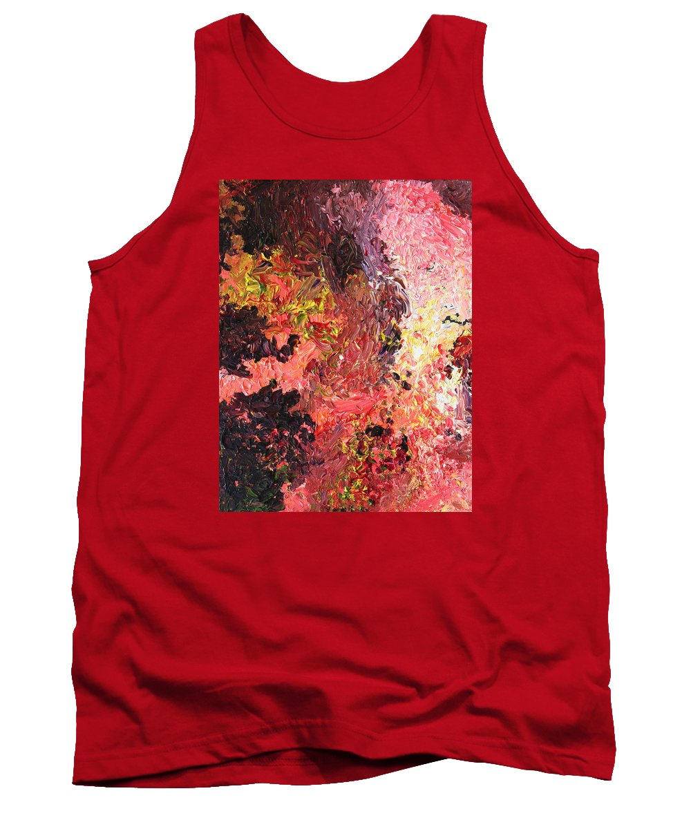Fusionart Tank Top featuring the painting Ganesh in the Garden by Ralph White