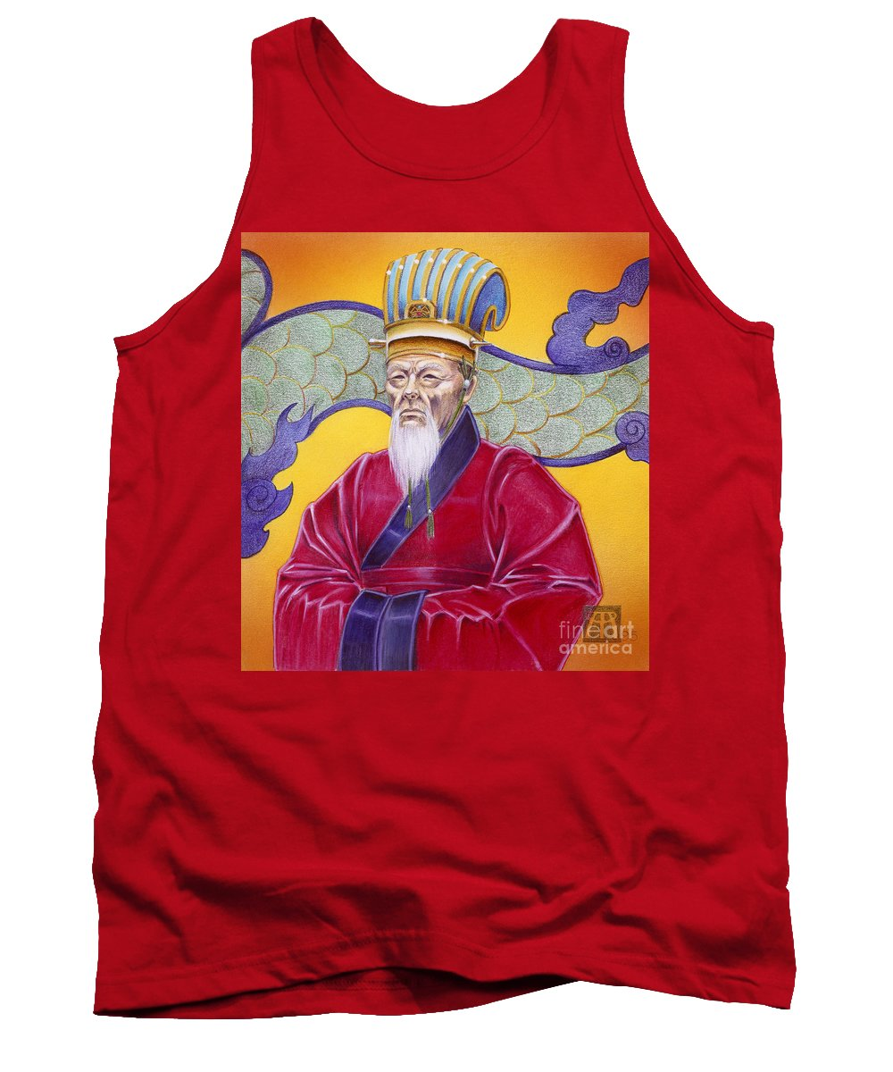 Oriental Tank Top featuring the painting Gao Zhang by Melissa A Benson