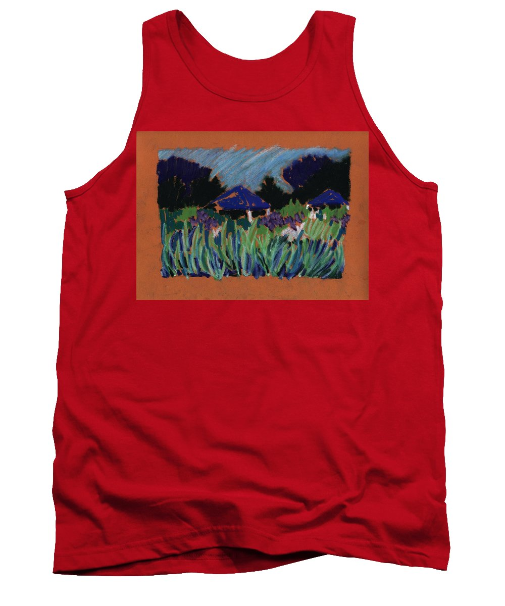 Iris Tank Top featuring the pastel Garden Party by Rodger Ellingson
