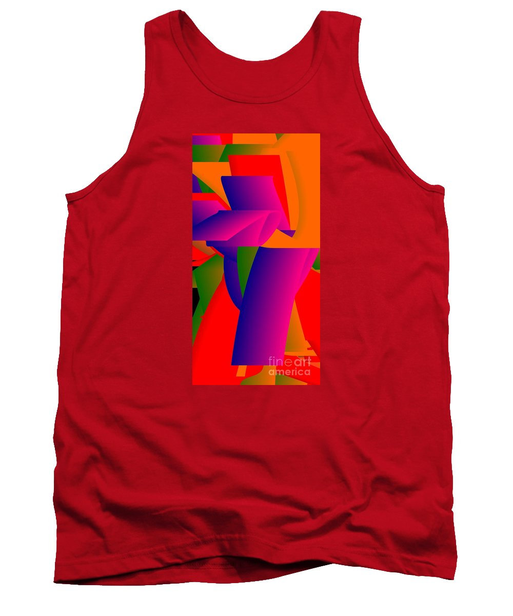 Newopart Tank Top featuring the digital art Gaudy V by Peter Schoenbohm