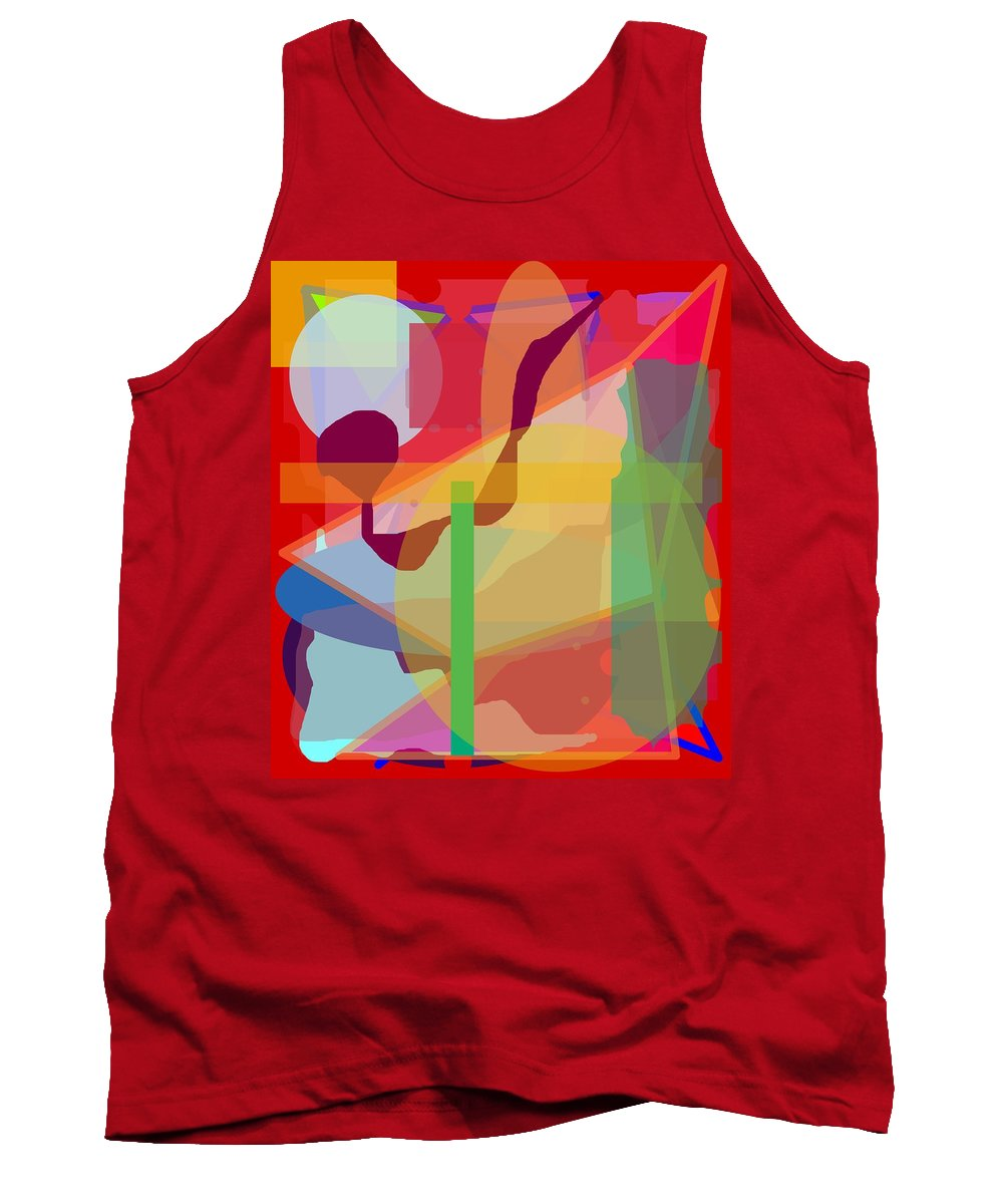 Abstract Tank Top featuring the painting Geo Frenzy by Pharris Art