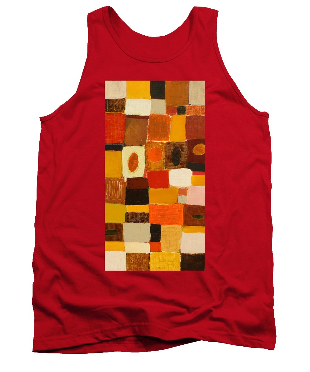 Abstract Tank Top featuring the painting Get Together by Habib Ayat