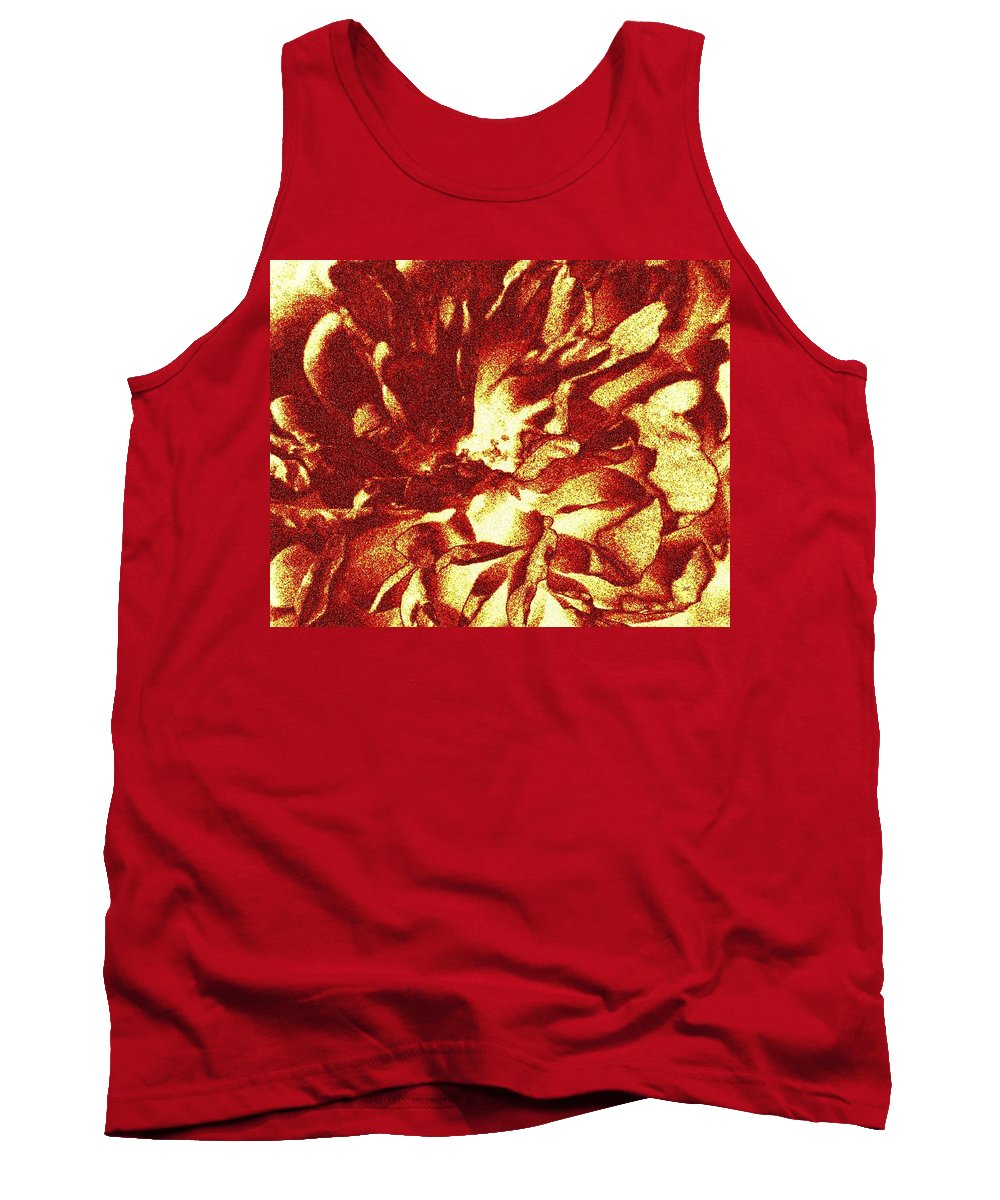 Abstract Tank Top featuring the digital art Ginger Rose by Will Borden