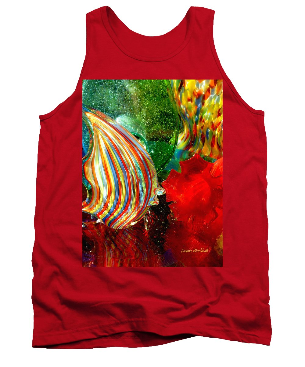 Glass Tank Top featuring the photograph Glass Sea by Donna Blackhall