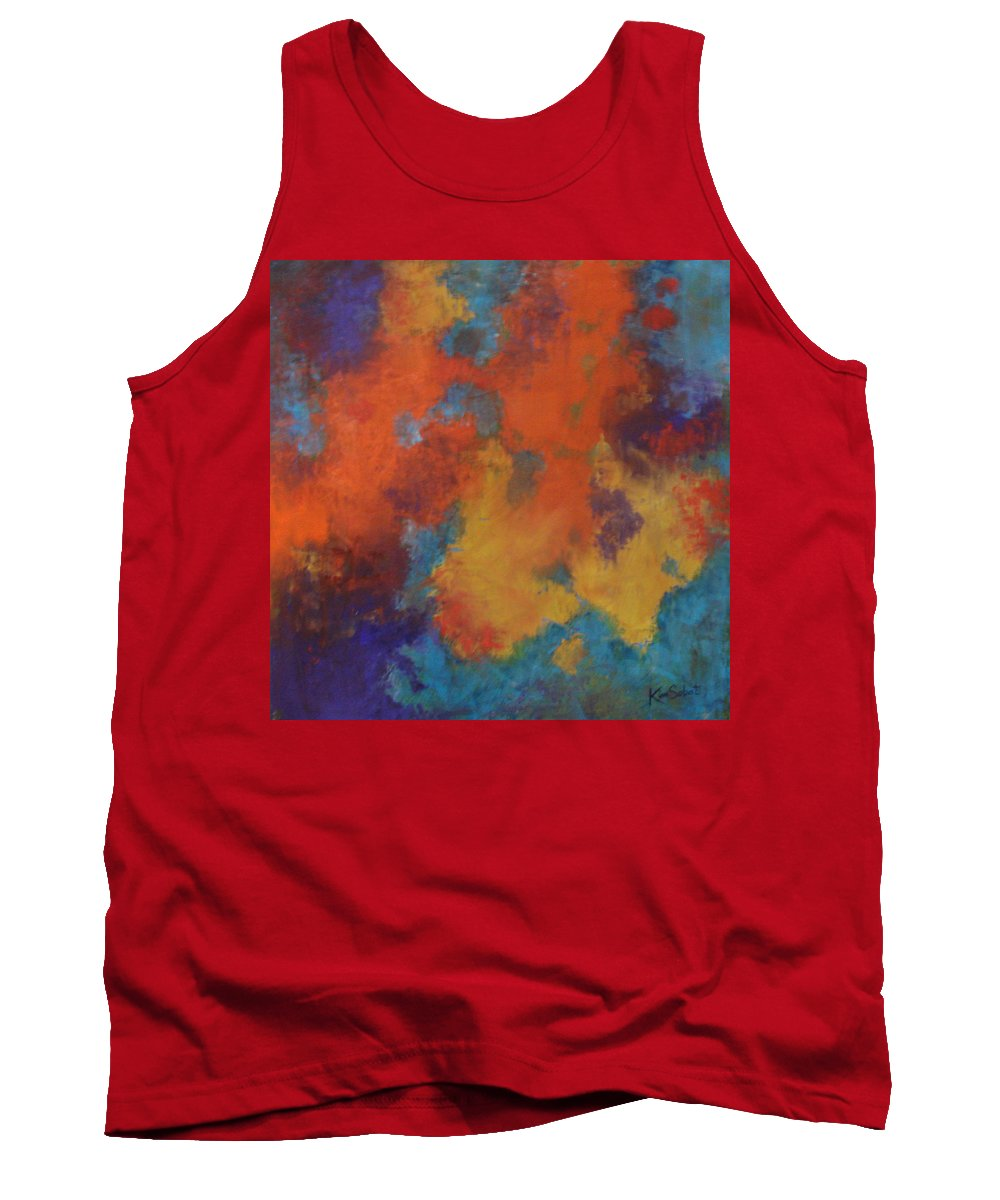 Global Warming Tank Top featuring the painting Global Warming by Kim Sobat