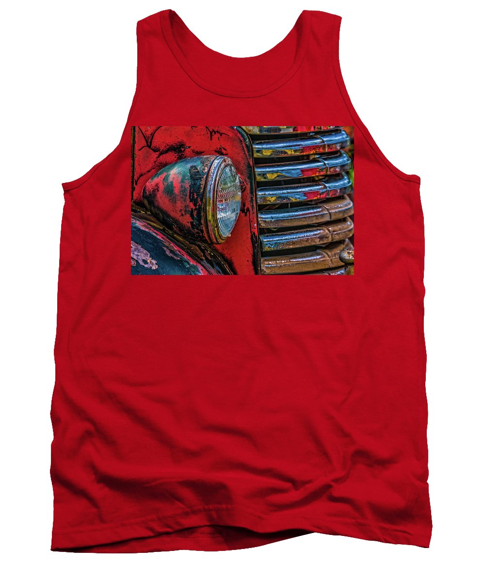 Gm Tank Top featuring the photograph Gm Headlight by Ed Broberg